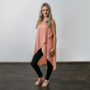 Stylish Nursing Top In Blush Pink