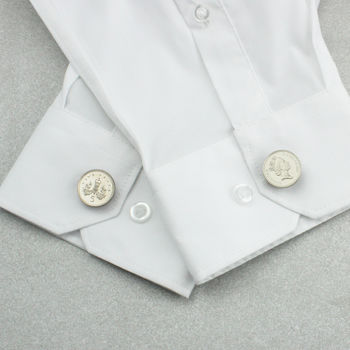 18th And 21st Birthday Five Pence Button Cufflinks