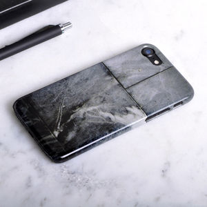 Dark Grey Stone Slab Phone Case - men's accessories