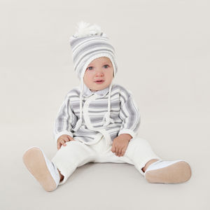 Baby French Designer Striped Two Piece Set