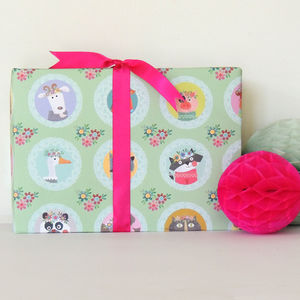 Animal Selfie Gift Wrap Two Sheets