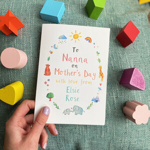 Personalised To Nanna Gran On Mothers Day Card