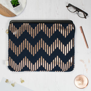 Metallic Zig Zag Laptop Or Tablet Case