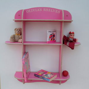 Three Tier Wall Shelves - children's room