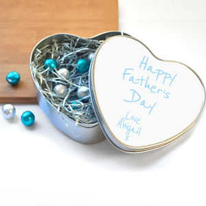 Personalised Father's Day Tin, Chocolates And Card