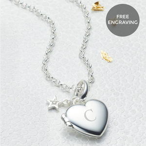 Personalised Small Heart Diamond Locket