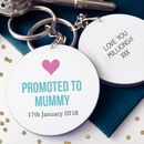 Personalised Promoted To Mum / Mummy Keyring