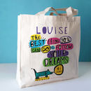 Canvas bag - Hi dreams (dog) design