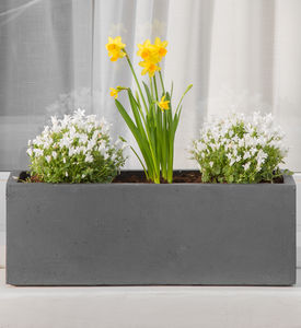 Small Window Box In Amalfi Black - pots & planters