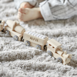 Personalised Wooden Train - personalised gifts