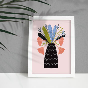 'Leaves In Vase' Art Print