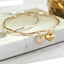 Sparkle Heart Stacking Bangle