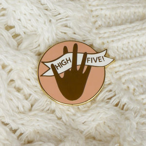 Positive Thinking Gold Enamel Pin Badge