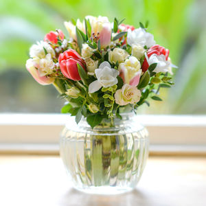 Bella's Flower Garden Of Roses Freesia And Tulips - fresh flowers