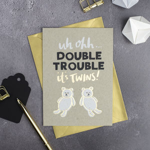 Double Trouble Twins Card