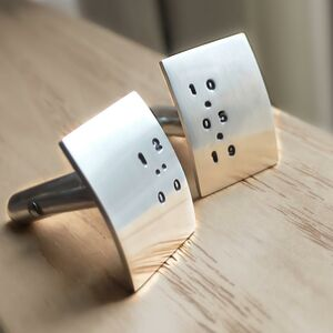 Personalised Time Cufflinks