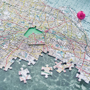 Personalised Our House Map Jigsaw - gifts for him