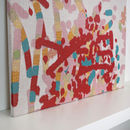 Personalised Knitted Abstract Children's Painting