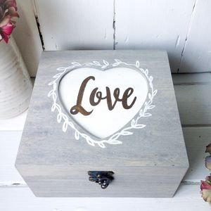 Personalised Love Heart Keepsake Box