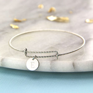 Sterling Silver Twisted Expandable Bangle - bracelets & bangles