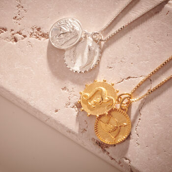 Zodiac Art Coin Duo Necklace