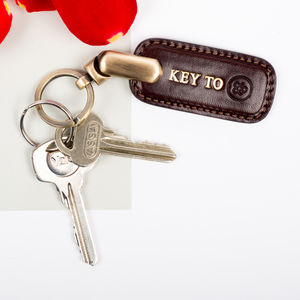 Luxury Leather Key Ring. 'The Ponte' - 40th birthday gifts