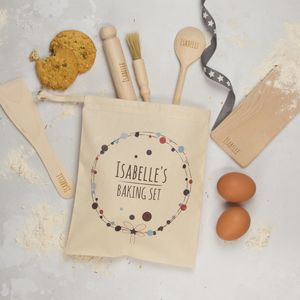 Personalised Childs Baking Set, Bubbles Wreath - gifts for bakers