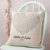 Personalised Song Cushion Cover - mother's day