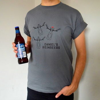 Personalised Reinbeers Christmas T Shirt