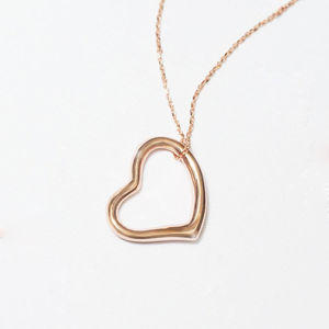 Hetty Open Heart Rose Gold Necklace - personalised jewellery