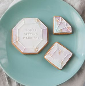 Wedding /Engagement Gem Biscuit Gift Box - biscuits and cookies