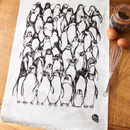 Penguin Waddle Organic Cotton Tea Towel
