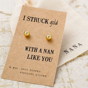 Struck Gold Nan Earrings