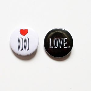Set Of Two Love Themed Pin Badges - pins & brooches