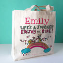 Personalised Enjoy The Ride Canvas Bag