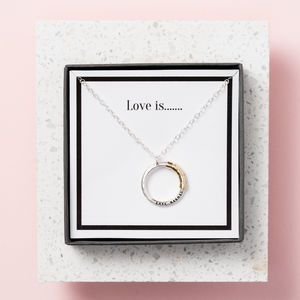 Personalised 'Love Is' Secret Bead Necklace