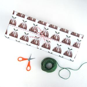 Pudding Christmas Wrapping Paper - new in christmas