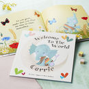 'Welcome To The World' Personalised New Baby Book
