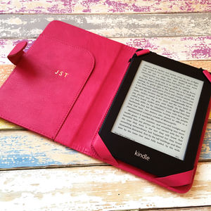 Pink Kindle Case Personalised In Gold