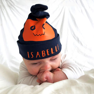 Personalised Halloween Pumpkin Hat - babies' hats