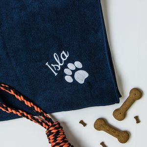 Personalised Microfibre Pet Towel - beds & sleeping