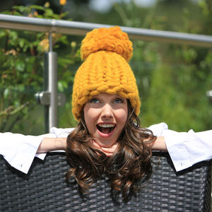 Handmade Chunky Knitted Beanie Hat - hats, scarves & gloves