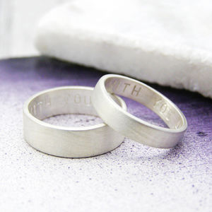 Matching Personalised Silver Rings - rings
