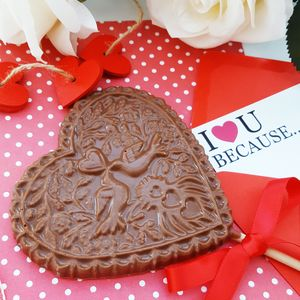 Milk Chocolate Lovebirds Lollipop - flowers & chocolates with a twist
