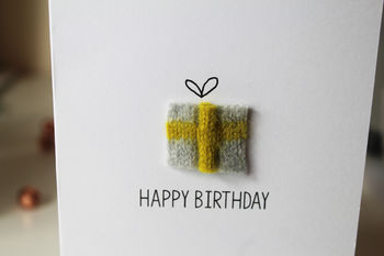 Personalised Knitted Birthday Card
