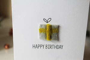 Personalised Knitted Birthday Card - birthday cards