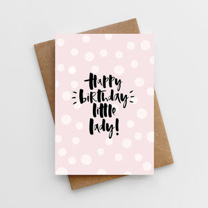 'Happy Birthday, Little Lady' Girl's Birthday Card