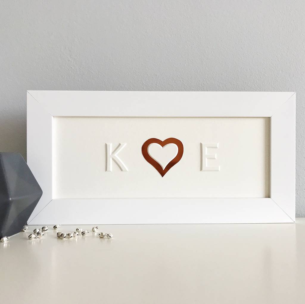 Personalised Heart And Initials Picture