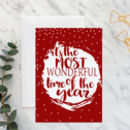 Most Wonderful Time Of The Year A5 Christmas Card