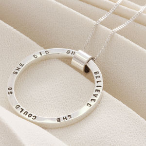Personalised Sterling Silver Circle Necklace